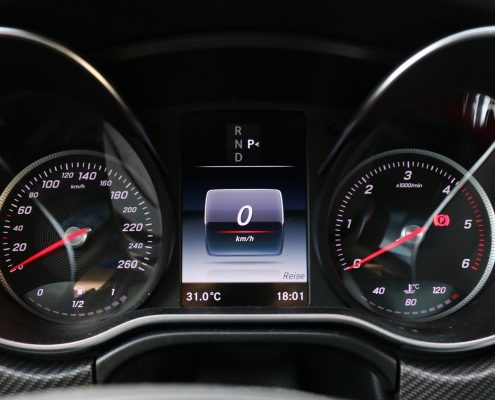 dashboard displays treated with anti reflective paint