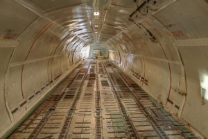 airplane cargo hold with aerospace coatings