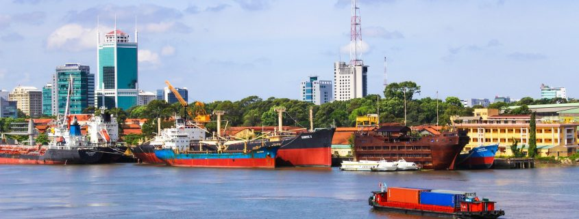 marine coating protecting the vessels of saigon harbour